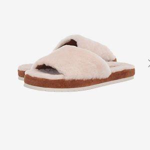 NEW⭐️VINCE real fur slides
